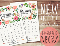 New freebies 2015 Calendar-January&February