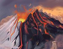 Volcano- Matte Painting