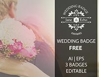 Wedding Badge Set