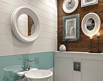 Дизайн маленькой туалетной комнаты