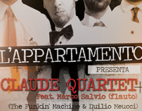 Flyer Claude Quartet Concert for www.upnea.com