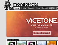 MonsterCat Website Design