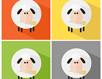 Sheeps Flat Design Style