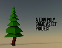 Low Poly Game Asset . The Wood
