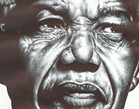 bic biro drawing of Nelson Mandela