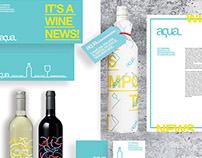 AQUA-Wine Shop Branding Design