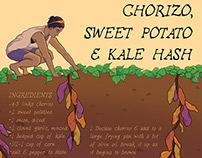 Recipe Poster / Chorizo Hash