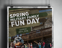Military Family Fun Day Flyer Poster