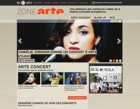 Microsite / ZONE ARTE