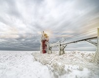 Frozen South Haven Lighthouse