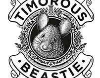 Timorous Beastie Label illustration by Steven Noble