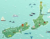 New Zealand Map for SuperYacht Agency