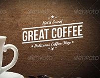 Retro Coffee Badge