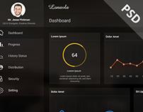 Transparent webapp Design, Admin Panel Design