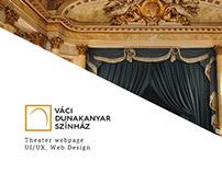 Váci Dunakanyar Színház theater webpage
