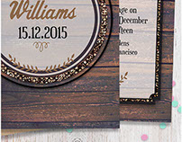 RUSTIC INVITATIONS by Webgrrl | LLP  (2015)