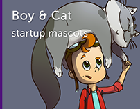 Boy and Cat - educational startup heroes
