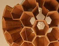 Hexagonal Lamp- Margaret Barry
