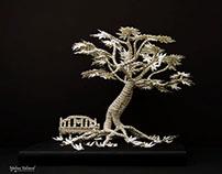 """""""The Tree of Awakening"""" Paper Art"""