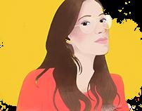Ilustrações para o blog Carolice