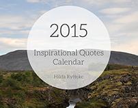 2015 Inspirational Quotes Calendar