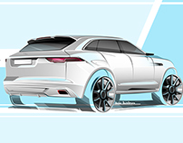 Jaguar SUV sketch