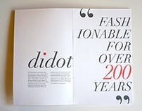 Didot Font Specimen Book