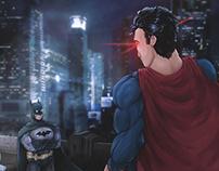 Batman V Superman: Dawn of Justice stare off