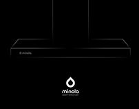 Логотип и фирменный стиль бытовой техники Minola.