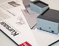Building Kursaal Paper Cutout