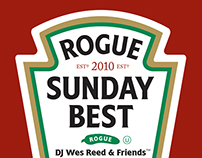 flyers for Sunday Best DJ events at Rogue and theLOFT