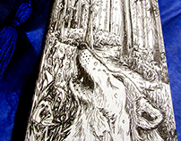 'Internal' - Hand Drawn Bookmark - Commisssion