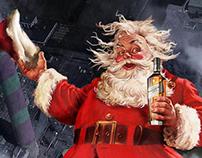 Santa Johnnie Walker