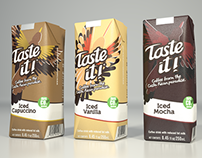 Diseño de packaging para la marca Taste it Costa Rica.