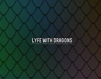 """LyfeWithDragons"" YouTube Channel Art Rebrand - 2015"