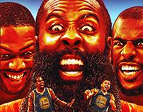 Rockets/Warriors graphic for Bleacher Report