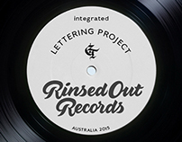 Rinsed Out Records. Integrated lettering project, 2015
