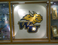 Large Painted Sign - Webster University Athletics Logo