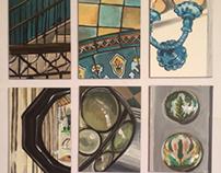 Design element mini prints for Casa del Mar