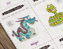 Cartoon Chinese Zodiac
