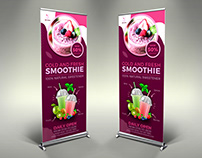 Smoothie Signage Roll Up Banner Template
