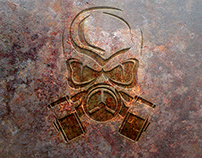Free Rust Metal Logo Mock-up