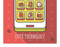 Cute technology illustration