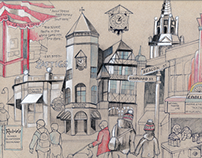Sophomore Illustration: Coolidge Corner
