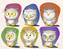 Baby owl stickers