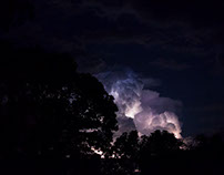 Lightening clouds