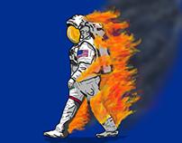 astronautonfire