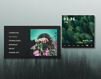 Fortunate Rainmeter Skin