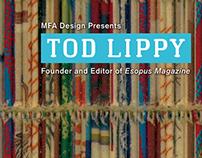 SVA MFA Design Guest Lecture Poster: Tod Lippy