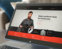 MAN'S - ecommerce PSD template